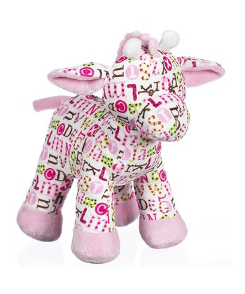 GANZ Pink Pitter Pattern Giraffe Plush Toy