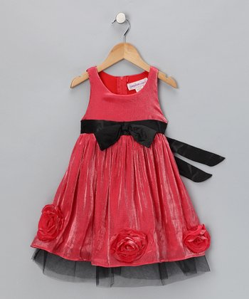 Red Rose Dress - Girls