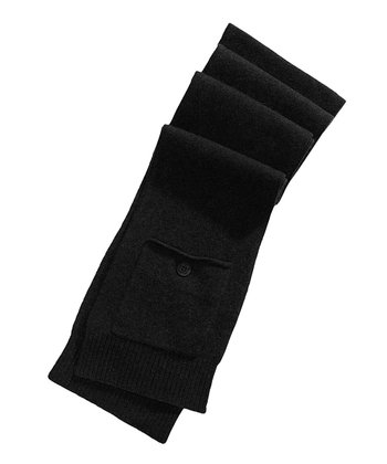 Black Heartfelt Wool-Angora Blend Arm Warmers