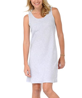 Gray Linen Sheath Dress