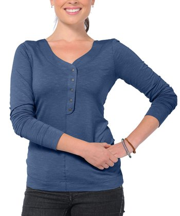 Blue Sonja Henley - Women