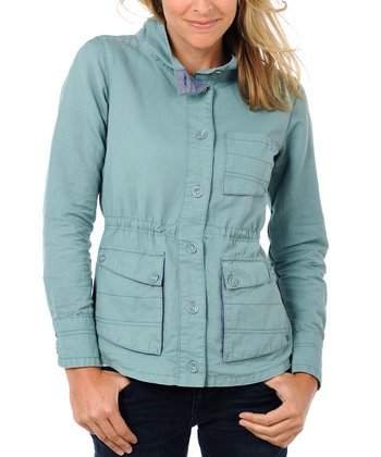 Ocean Blue Swept Away Linen-Blend Jacket