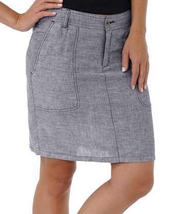 Charcoal Lithe Venti Linen Skirt