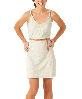 Light Heather Double Helix Organic Dress