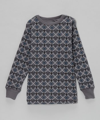 Charcoal Marco Skull Thermal - Boys