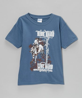 Indigo Blue 'Ride Hard, Live Hard' Tee - Boys