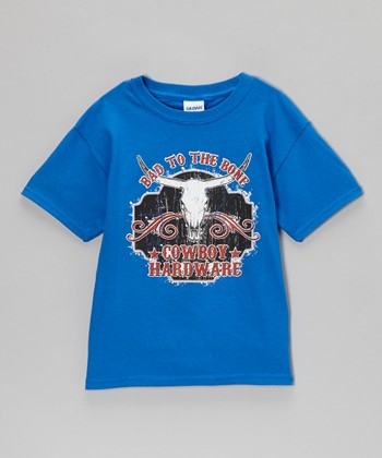 Royal Blue 'Bad to the Bone' Tee - Boys