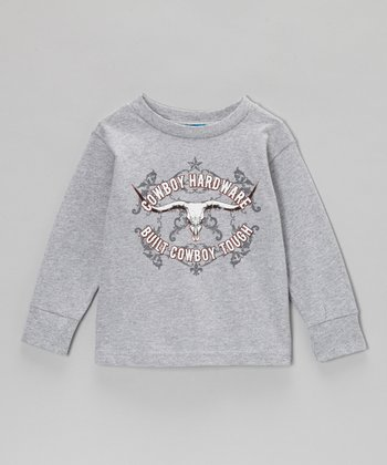 Heather Gray Skull Long-Sleeve Tee - Infant & Toddler