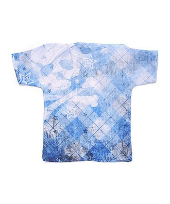 Blue & White Argyle Skull Tee - Toddler
