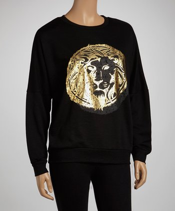 Black Golden Lion Sweatshirt