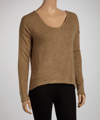 Mocha Long-Sleeve Top