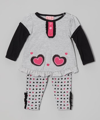 Gray Jersey Top & Leggings - Infant