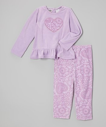 Peanut Buttons Lilac Hearts Top & Pants - Infant & Toddler