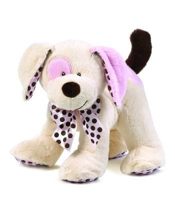 Pink & Tan Chocolate Drops Puppy Plush Toy