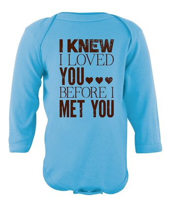 Blue 'I Knew I Loved You' Bodysuit - Infant