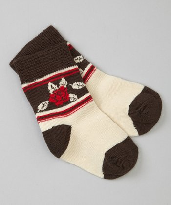 Brown Leaf Socks