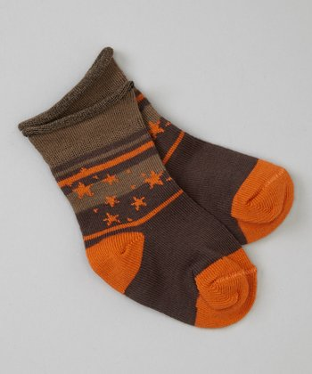 Chocolate Stars Socks
