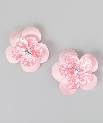 Pinky Pie Sweetie Pie Flower Clip - Set of Two