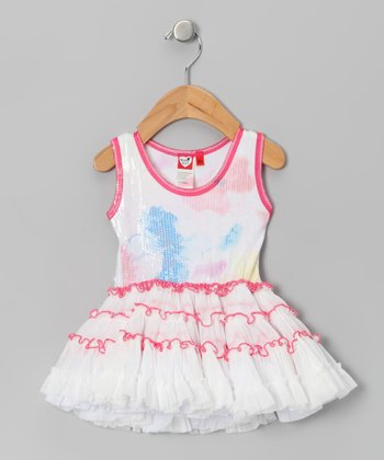 White Sugar Flower Tutu Dress - Infant & Toddler
