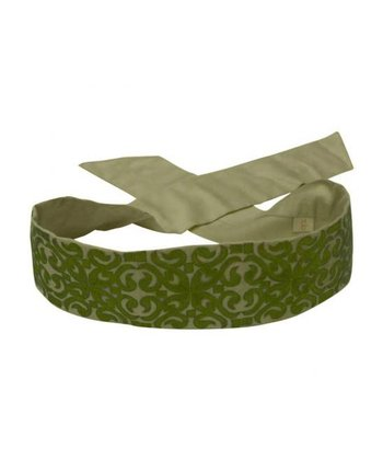 Green Embroidered Belt