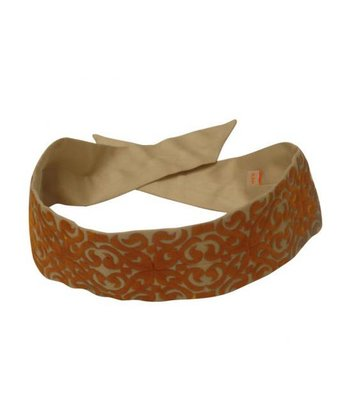 Orange Embroidered Belt