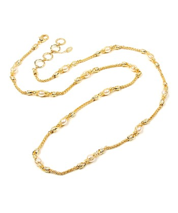 Pearl & Gold Chain Necklace