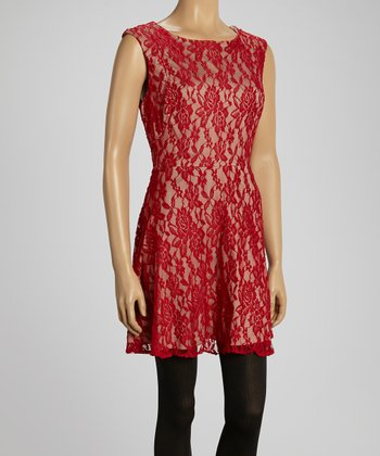 Red Dusk Berkeley Sleeveless Dress