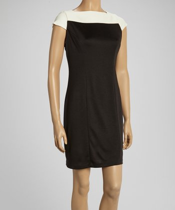 Oreo Brooke Cap-Sleeve Dress