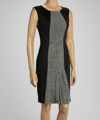 Eclipse Tweed Cho Cap-Sleeve Dress
