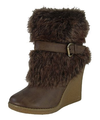 Camel Natasha Wedge Boot