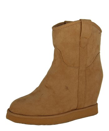 Camel Wynter Wedge Boot