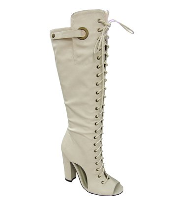 Beige Immortal Lace-Up Boot