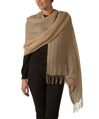 Light Brown Joanna Eco Alpaca Shawl
