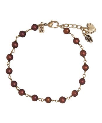 Chocolate Pearl Tend to Your Heart Bracelet