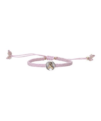 Pink Awareness Macramé Bracelet