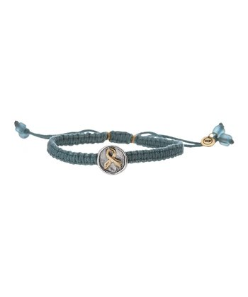 Teal Awareness Macramé Bracelet