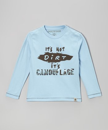 Sky Blue 'It's Not Dirt' Long-Sleeve Tee - Infant, Toddler & Kids