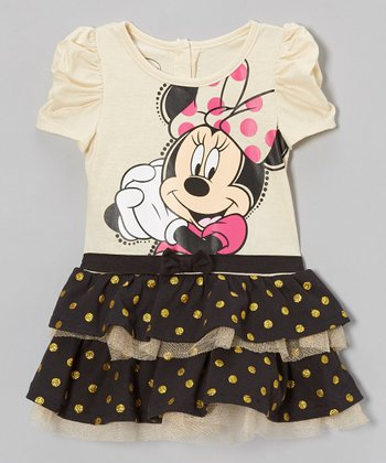 Black Polka Dot Minnie Tutu Dress - Infant