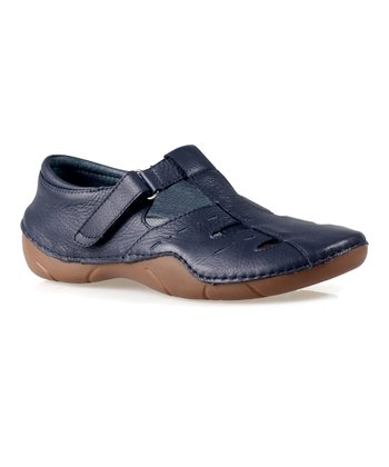 Navy Starling Leather Shoe