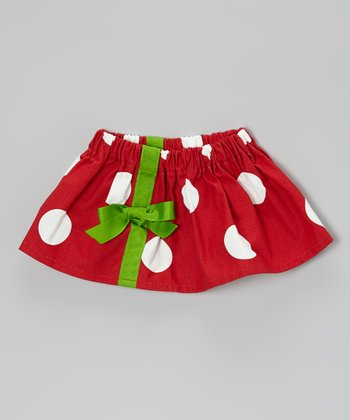 Red & Green Ribbon Skirt - Infant & Toddler