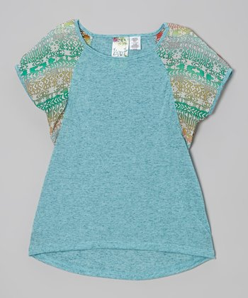 Jade Tribal Dolman Top - Girls
