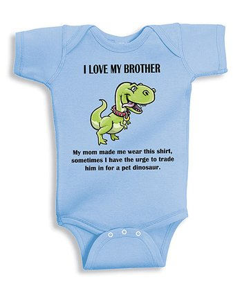 Light Blue 'I Love My Brother' Bodysuit - Infant