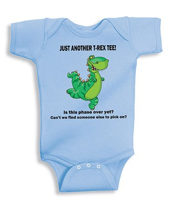 Light Blue 'Just Another T-Rex' Bodysuit - Infant