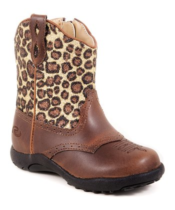 Brown Leopard Cowboy Boot