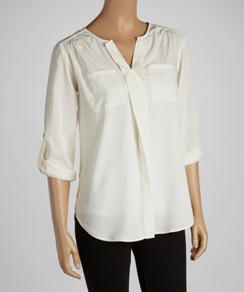 Ivory Button-Up Top