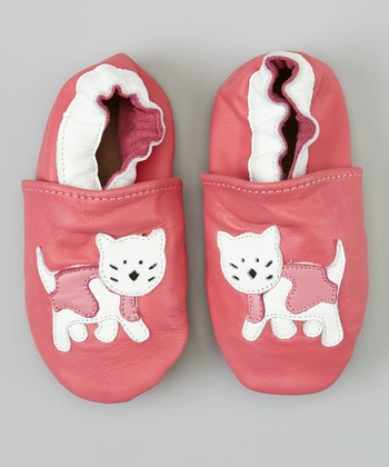 Pink & White Cat Bootie