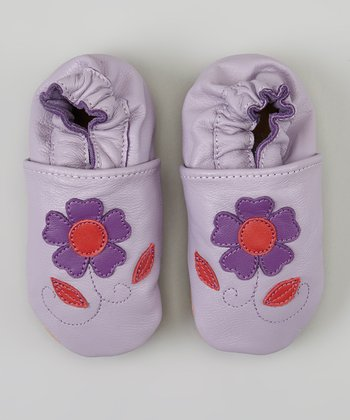Purple & Pink Flower Bootie