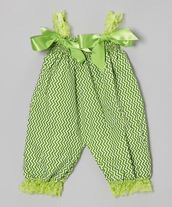 Green Zigzag Bubble Romper - Infant & Toddler