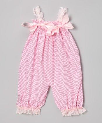 Light Pink Zigzag Bubble Romper - Infant & Toddler