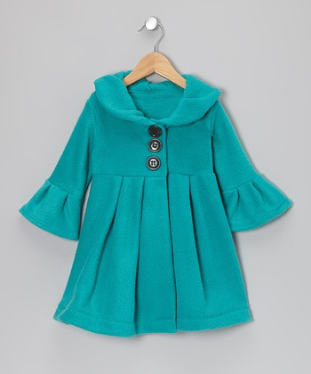 Turquoise Dress Coat - Toddler & Girls